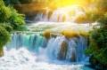 A Krka vízesés Dalmácia egyik legnépszerűbb védett területe