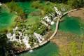 A Plitvicei tavak Horvátország féltett természeti kincse.