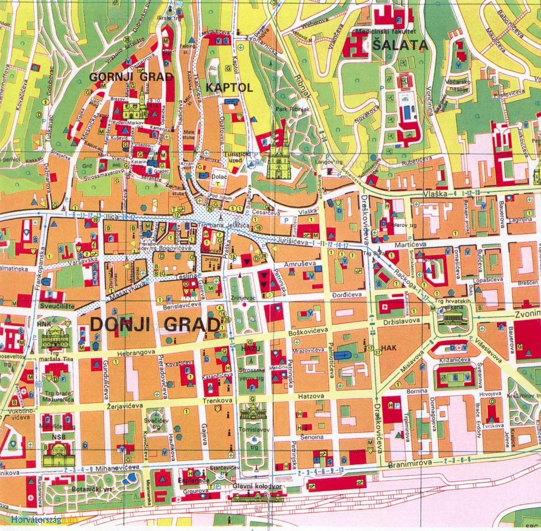zágráb térkép Zágráb látnivalói, érdekességek – magyar műemlékek zágráb térkép