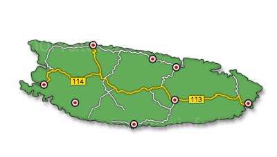Brac sziget térkép