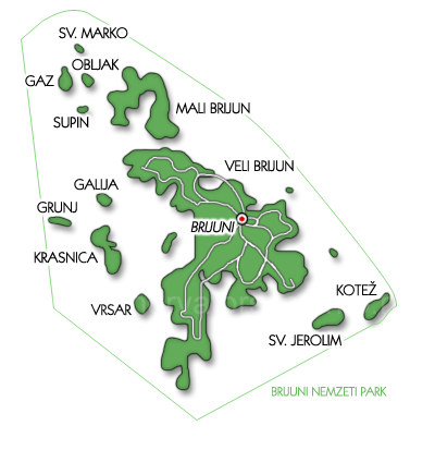 Brijuni nemzeti park térkép