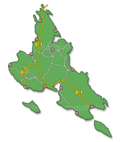 Krk sziget térkép
