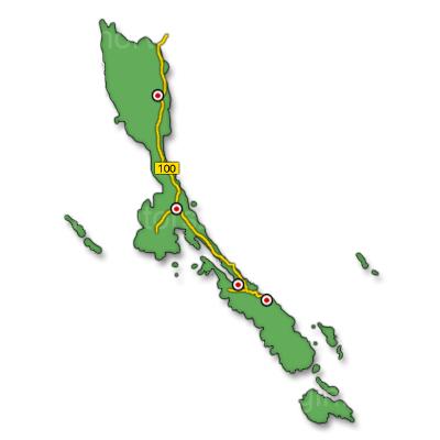 Losinj sziget térkép