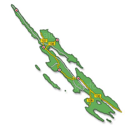 Pag sziget térkép