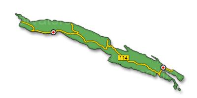 Peljesac sziget térkép