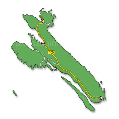 Rab sziget térkép