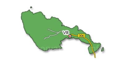 Vir sziget térkép