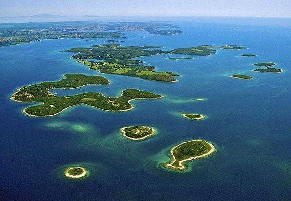Sok apró szigetből áll a Brijuni Nemzeti Park