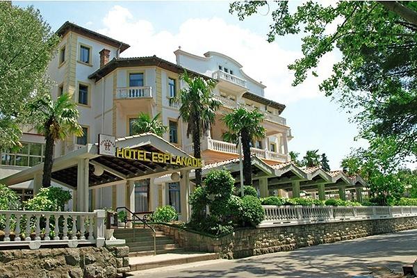 Igazi tengerparti hotel Crikvenicán az Esplanade