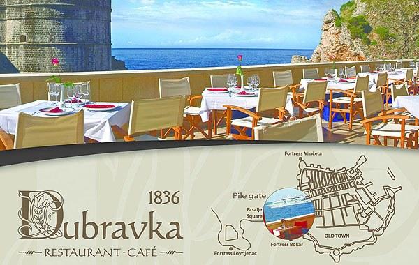 Csodálatos kilátás nyílik a Dubravka étteremből is