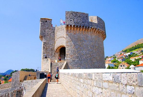 Dubrovnik egyik jelképe a Minceta erőd.