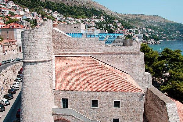 A Revelin erőd teteje, Dubrovnik legnagyobb terasza.