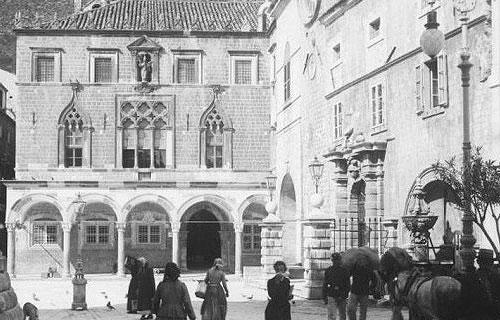 A Sponza palota 150 évvel ezelőtt