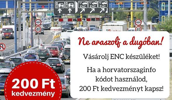 ENC fizetés Horvátország autópályán