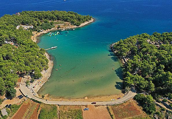 A homokos Grebisce strand