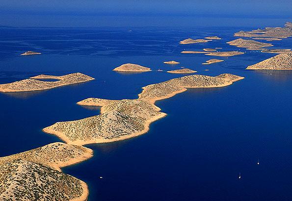 Az egyik legjobb kirándulási lehetőség a Kornati Nemzeti Park.