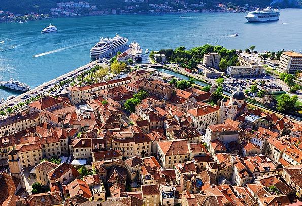 Csodálatos látvány Kotor óvárosa