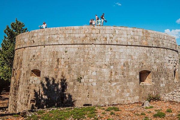 A Lokrum sziget legmagasabb pontján található a Royal Fort erőd
