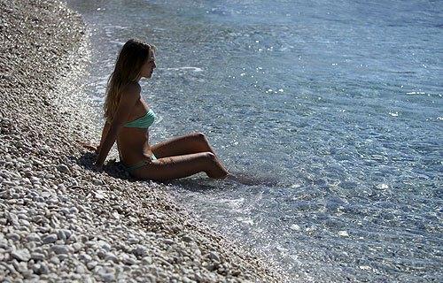 Losinj strandjai mind a nyilt tengeren vannak. Ennek köszönhetően nagyon szépek.