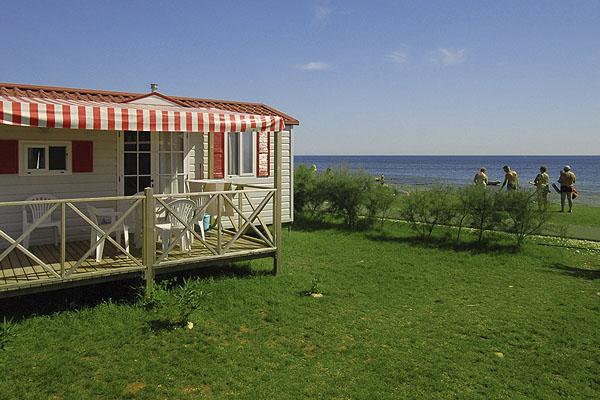 Közvetlen tengerparti mobilházat bérelhetünk Medulinban