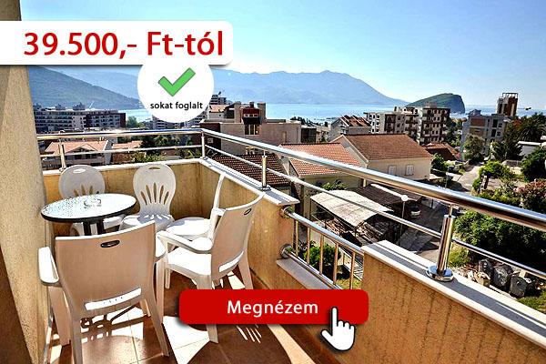 Montenegró szállás – Plima apartman