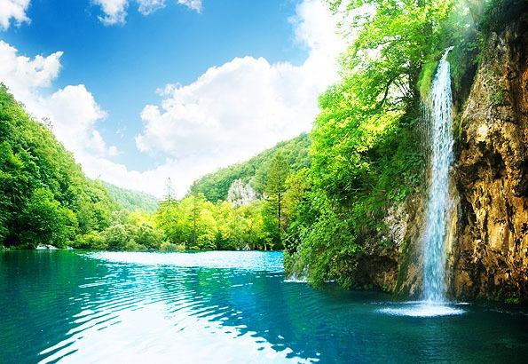 Vízesés a Plitvicei tavaknál