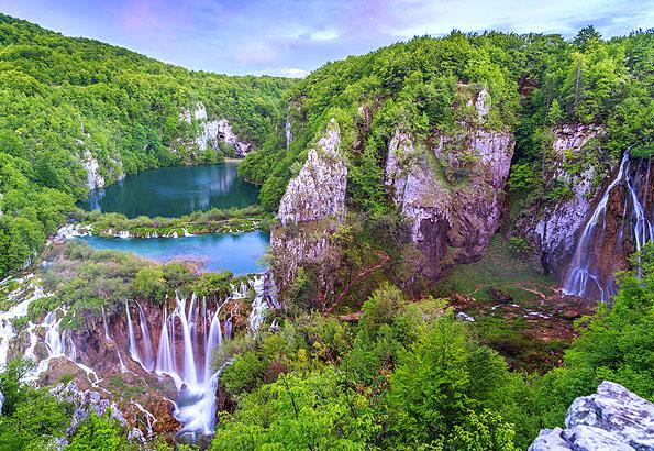 Bárhonnan is nézzük, mindig elképesztő látványt nyújt a Plitvicei tavak