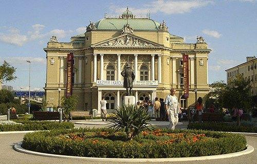 Az egyik legszebb látnivaló a Rijekai szinház