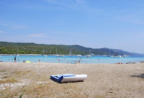 A Sakarun a legszebb homokos strand a Dugi szigeten.
