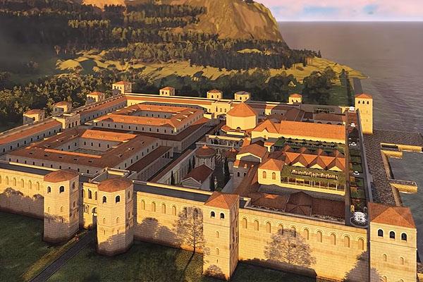 Ilyen volt a Diokleciánusz / Diocletianus palota eredeti állapotában