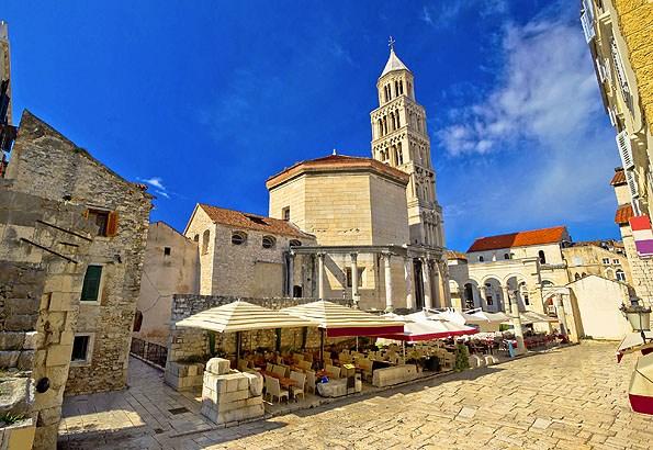 Diocletianus palota sok helyen épségben megmaradt