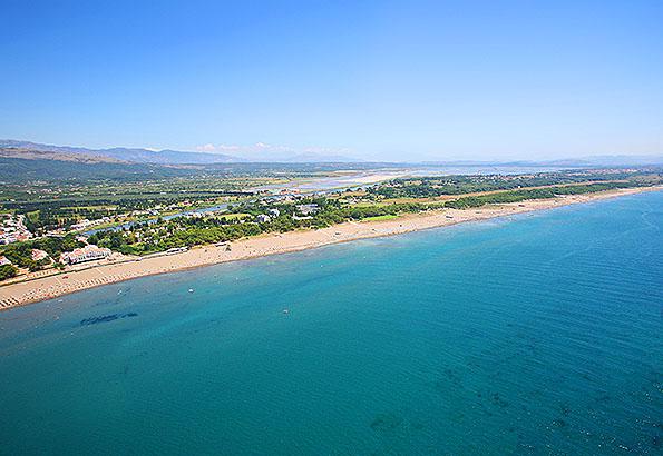 A legjobb montenegrói strand Ulcinj Hosszú strandja