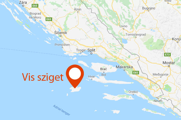 vis sziget térkép Titó egykori bunkerszigetén, forgatták a Mamma Mia 2 t!