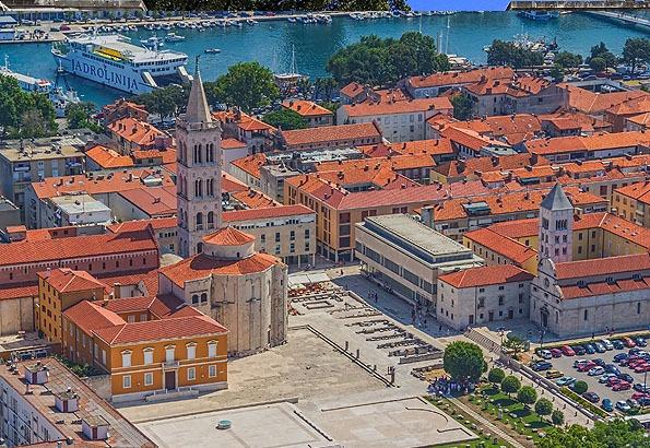 A Forum volt Zadar központi területe az ókorban