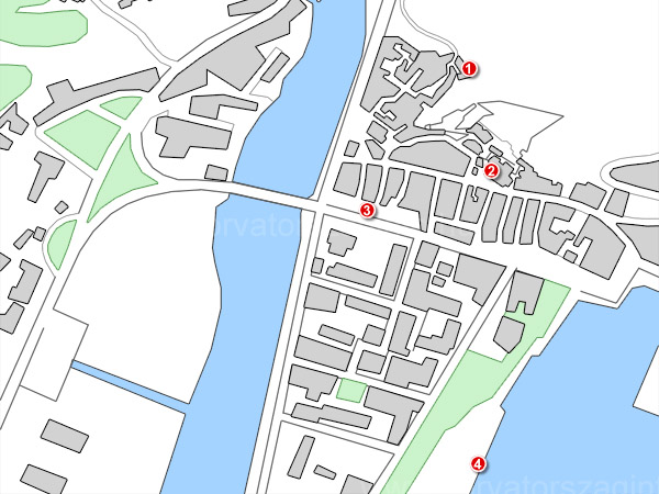 Omis térképe a látnivalókkal
