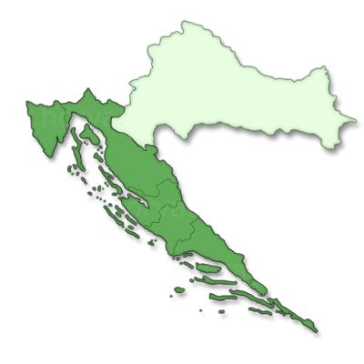 Horvátország térkép