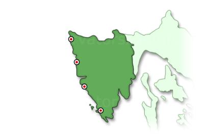 Isztria térkép