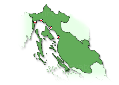 Kvarner-öböl térkép