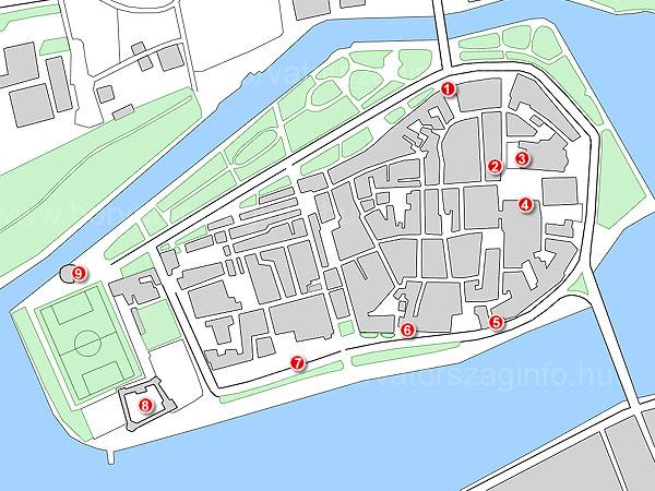 Trogir térképe a látnivalókkal